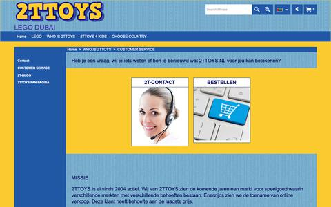 Screenshot of Support Page 2ttoys.nl - CUSTOMER SERVICE - captured Nov. 7, 2018