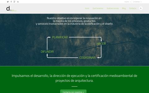 Screenshot of Home Page dinmas.com - D IN MAS | Gestión y desarrollo de proyectos tecnológicos y arquitectónicos - captured Jan. 7, 2016