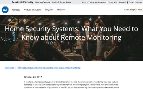 Remote Home Monitoring | Set Your Alarm Remotely From Your Phone | ADT