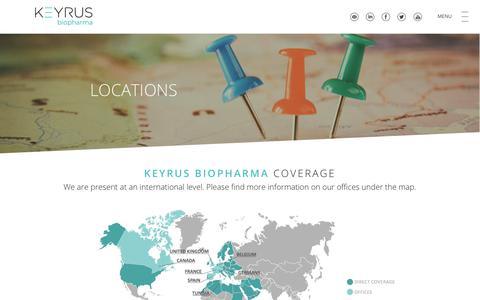 Screenshot of Locations Page keyrusbiopharma.com - KEYRUS | Locations - captured Oct. 15, 2018