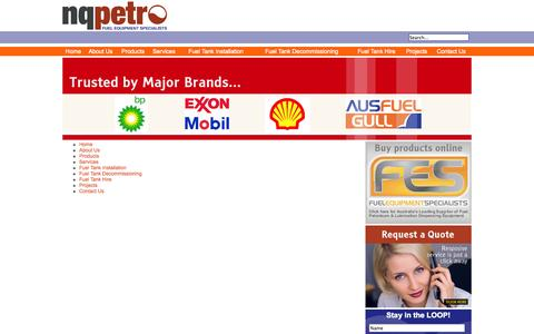 Screenshot of Site Map Page nqpetro.com.au - Sitemap - nqpetro   Fuel Equipment Specialists - captured Oct. 26, 2014