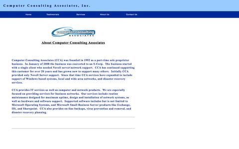 Screenshot of About Page ccaidaho.com - Computer Consulting Associates - captured Oct. 2, 2014
