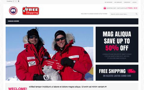 Screenshot of Home Page martechonline.com - Canada Goose Parka Outlet-Canada Goose Parka Online Shopping In Authentic Canada Goose Official Website - captured Oct. 3, 2014