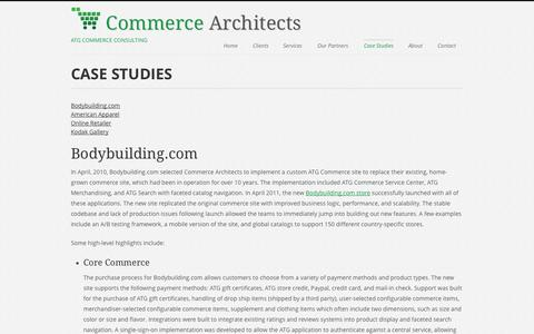 Screenshot of Case Studies Page commerce-architects.com - Commerce Architects | Oracle Web Commerce Consulting | Case Studies - captured Sept. 30, 2014