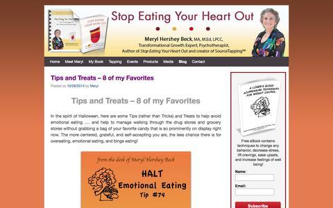 Screenshot of Blog stopeatingyourheartout.com - Blog - Stop Eating Your Heart Out - captured Nov. 2, 2014