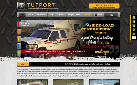 Screenshot of Home Page tufport.com - Tufport - captured Oct. 9, 2014