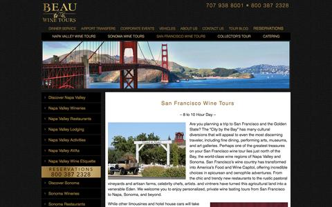 San Francisco Wine Tour - Private Wine Tasting Tours - Napa - Sonoma