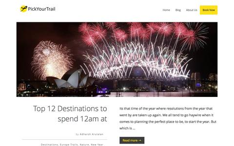 Screenshot of Blog pickyourtrail.com - PickYourTrail Blog - Stop Touring. Start Travelling. - captured Dec. 31, 2015