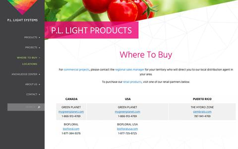 Screenshot of Locations Page pllight.com - Where To Buy | P.L. Light Systems - captured Oct. 13, 2019