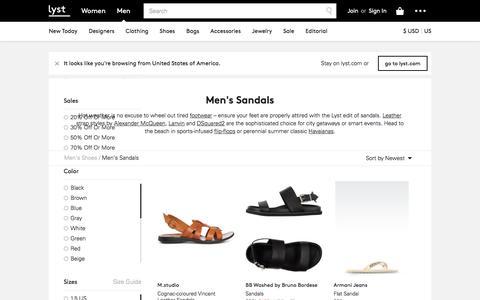 Sandals | Men's Flip-Flops & Leather Sandals | Lyst