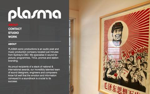 Screenshot of About Page plasma.com.au - About   Plasma - captured Sept. 30, 2014