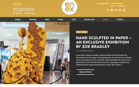 Screenshot of Blog enexperth.com.au - Blog - Enex Perth - Perth's Home To Fashion, Food & Lifestyle - captured July 7, 2018
