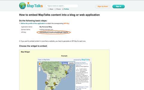 Screenshot of Developers Page maptalks.net - MapTalks - Developers - captured Oct. 5, 2014