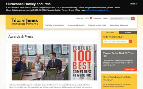 Awards & Press   Edward Jones