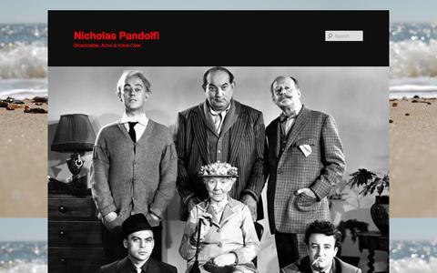 Screenshot of Press Page nicholaspandolfi.co.uk - My news | Nicholas Pandolfi - captured Oct. 26, 2014