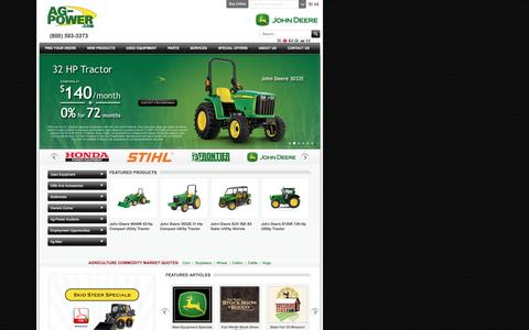 Screenshot of Home Page ag-power.com - Welcome to Ag-Power | Premier John Deere and STIHL Dealership - AG-POWER - captured Feb. 5, 2016