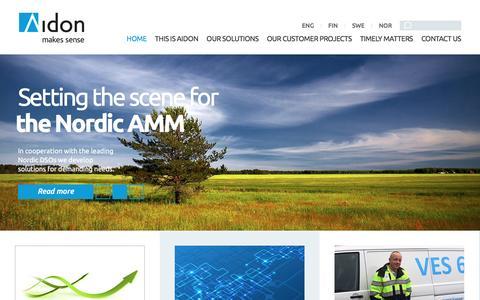 Screenshot of Home Page aidon.com - Home - Aidon - captured Nov. 20, 2016