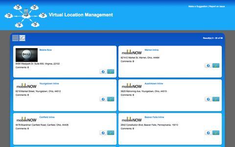 Screenshot of Locations Page virtuallm.com - Locations - captured Nov. 3, 2014