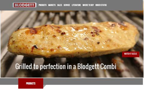 Screenshot of Home Page Products Page blodgett.com - Blodgett Oven - captured Sept. 24, 2014