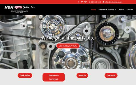 Screenshot of Home Page hhchiefsales.com - Home - H&H Chief Sales |Truck and Farm Equipment - captured Nov. 3, 2018