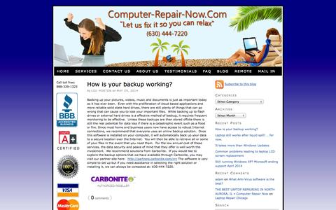 Screenshot of Blog computer-repair-now.com - Computer Repair Blog by Computer-Repair-Now.Com - captured Oct. 2, 2014