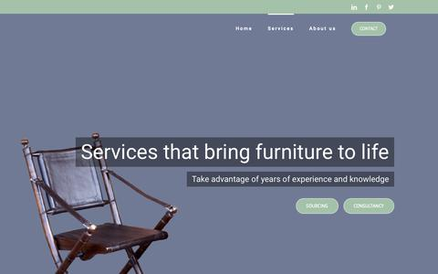 Screenshot of Services Page cantik-designfurniture.com - Cantik-Design Furniture Agency: Furniture souring agent and consultant - captured Nov. 4, 2018