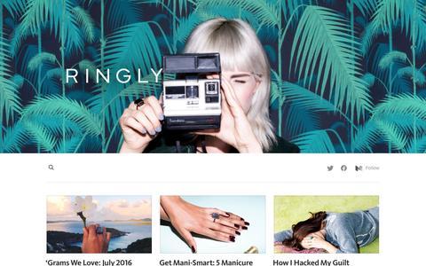 Screenshot of Blog ringly.com - Ringly Blog - captured Aug. 10, 2016