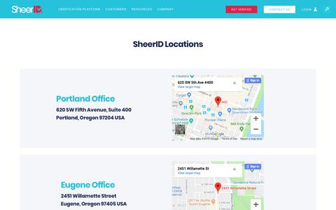 Screenshot of Locations Page sheerid.com - Locations - SheerID - captured March 23, 2019