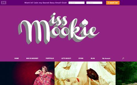 Screenshot of Home Page missmookie.com - HELLO | Miss Mookie - captured Oct. 7, 2014