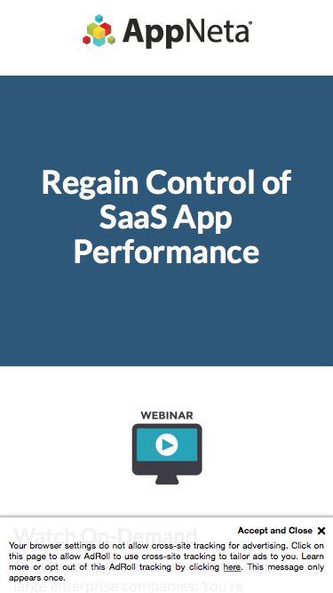 Regain Control of SaaS App Performance