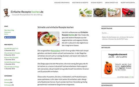 Screenshot of Home Page einfache-rezepte-kochen.de - Einfache-Rezepte-kochen.de | Schnell und lecker essen! - captured Dec. 4, 2016