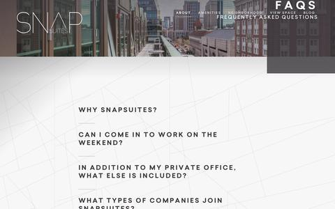 Screenshot of FAQ Page snapsuites.com - SnapSuites - FAQs - captured July 14, 2018
