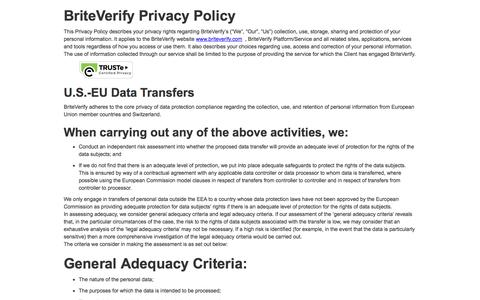 BriteVerify Privacy Policy