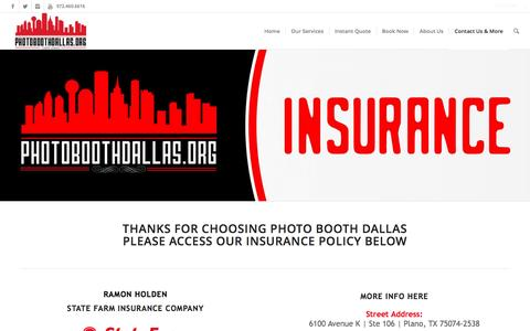 Insurance | Photo Booth Rental Dallas - Wedding, Corporate & Party Rentals