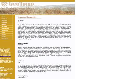 Screenshot of Team Page geotomo.com - GeoTomo-Earth Modeling and Imaging Solutions - captured Jan. 27, 2016