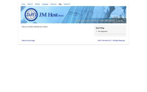 Screenshot of Blog jmhostlaw.com - Blog - captured Oct. 4, 2017