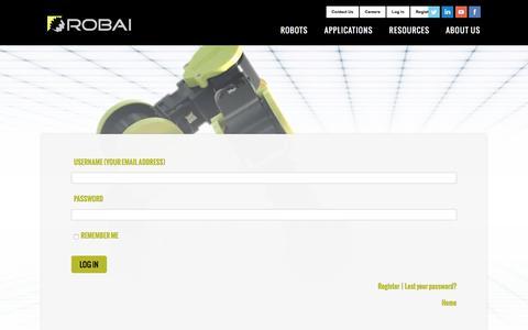 Screenshot of Login Page robai.com - User Login - Robai - captured June 15, 2017