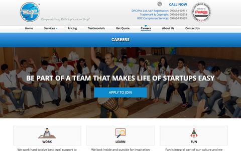 Screenshot of Jobs Page bmcgroup.in - BMCGroup.in Careers, Jobs in BMC Group, Culture, Life at BMC Group - captured Nov. 22, 2016