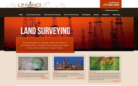 Screenshot of Home Page lpnsurveying.com captured Oct. 1, 2014