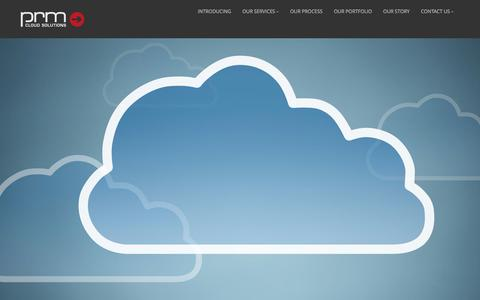 Screenshot of Home Page prmcloud.com - PRM Cloud Solutions - captured Jan. 23, 2016