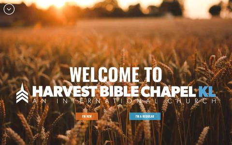 Screenshot of Home Page harvestkl.org - A Christ-centered International Church in Kuala Lumpur | Harvest Bible Chapel - captured Sept. 27, 2018