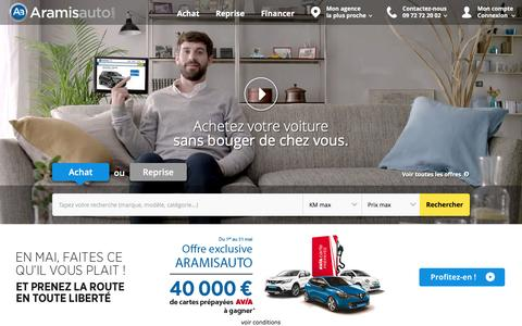Screenshot of Home Page aramisauto.com - Aramisauto - Achat voitures pas chères, neuves et occasion - captured May 9, 2017