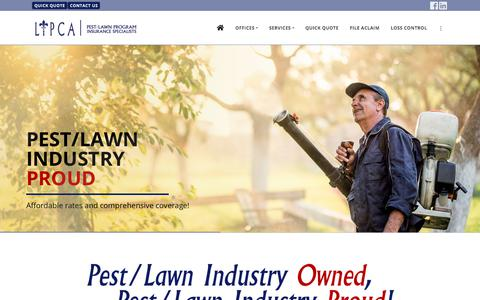 Screenshot of Home Page lipca.com - LIPCA - Pest/Lawn Program Insurance Specialists in Baton Rouge - captured Sept. 25, 2018