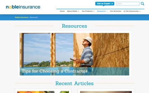 Resources | Noble Insurance