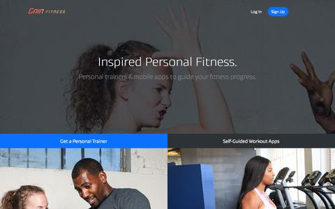 Screenshot of Signup Page gainfitness.com - GAIN Fitness - Fitness Results for Busy People - captured July 3, 2015