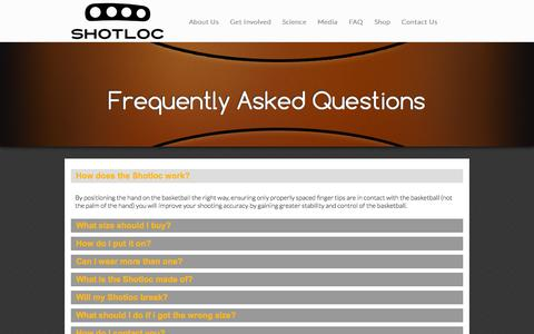 Screenshot of FAQ Page shotloc.com - Frequently Asked Questions | Shotloc - captured Oct. 3, 2014