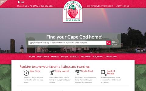 Screenshot of Signup Page strawberryhillre.com - Strawberry Hill Real Estate - captured Dec. 2, 2016