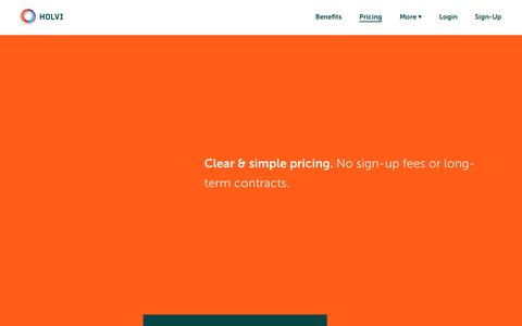 Screenshot of Pricing Page holvi.com - Pricing / Holvi – Banking for Makers and Doers - captured Nov. 23, 2016