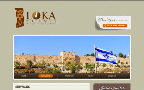 Screenshot of Services Page lokatravel.com - SERVICES | LOKA Travel | Chanda Lewis | Specializing in Christian, Messianic, and Group Travel - captured Sept. 26, 2014
