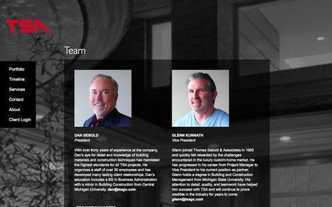 Screenshot of Team Page tsagc.com - - Thomas Sebold & Associates, Inc. Thomas Sebold & Associates, Inc. - captured Oct. 7, 2014